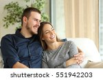satisfied couple of... | Shutterstock . vector #551942203