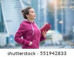 portrait of sporty woman... | Shutterstock . vector #551942833