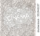 cartoon cute doodles hand drawn ... | Shutterstock .eps vector #551943157