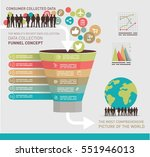 data collection concept... | Shutterstock .eps vector #551946013