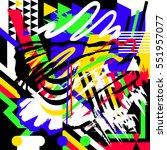 artistic memphis abstraction.... | Shutterstock .eps vector #551957077