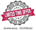 limited time offer. stamp.... | Shutterstock .eps vector #551958163