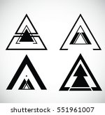 triangles. banners  insignias   ... | Shutterstock .eps vector #551961007