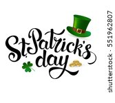 st. patrick's day. hat of... | Shutterstock .eps vector #551962807
