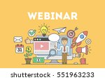 online education concept with... | Shutterstock .eps vector #551963233