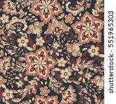vector flower seamless pattern. ... | Shutterstock .eps vector #551965303