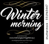 font script typeface winter... | Shutterstock .eps vector #551965447