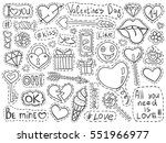 valentines day patch badges set.... | Shutterstock .eps vector #551966977