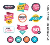 sale stickers  online shopping. ... | Shutterstock .eps vector #551967097