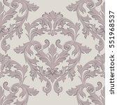 vintage baroque damask floral... | Shutterstock .eps vector #551968537