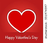 happy valentine's day greeting... | Shutterstock .eps vector #551974597