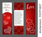 happy valentines day. hand... | Shutterstock .eps vector #551974837