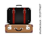 realistic travel suitcases.... | Shutterstock .eps vector #551979607