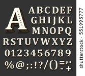 black and white font on black... | Shutterstock .eps vector #551995777