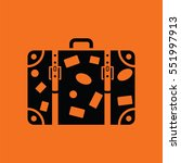 suitcase icon. orange... | Shutterstock .eps vector #551997913