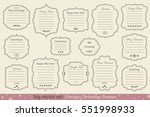 big vector set of vintage... | Shutterstock .eps vector #551998933