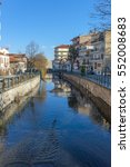 Small photo of The picturesque centre of Florina, Greece. River crossing across the town.