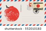 an envelope with a japanese... | Shutterstock .eps vector #552010183