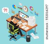 deadline concept  overworked... | Shutterstock .eps vector #552016297