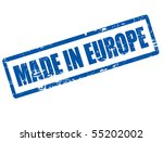 blue grunge rubber stamp with... | Shutterstock .eps vector #55202002