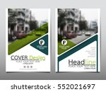 green flyer cover business... | Shutterstock .eps vector #552021697