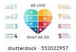 vector abstract heart sign... | Shutterstock .eps vector #552022957