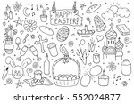 collection of happy easter... | Shutterstock .eps vector #552024877