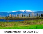 view of the hula valley and... | Shutterstock . vector #552025117