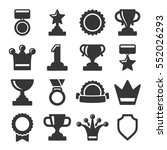 trophy and awards icons set.... | Shutterstock .eps vector #552026293