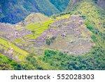 machu picchu lost city in peru... | Shutterstock . vector #552028303