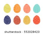 colorful easter eggs collection ... | Shutterstock .eps vector #552028423