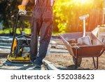 brick path construction.... | Shutterstock . vector #552038623