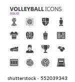 simple modern set of volleyball ... | Shutterstock .eps vector #552039343