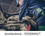 auto service business concept.... | Shutterstock . vector #552040417