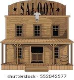 saloon   vector art   old west... | Shutterstock .eps vector #552042577