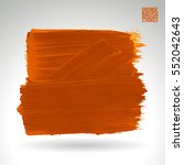 brush stroke and texture.... | Shutterstock .eps vector #552042643