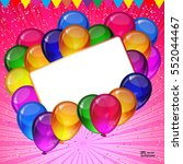 birthday party vector... | Shutterstock .eps vector #552044467