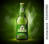 vector beer advertisement... | Shutterstock .eps vector #552050983