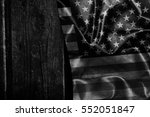 usa flag on a wood surface | Shutterstock . vector #552051847