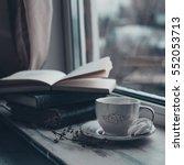 cozy winter still life  cup of... | Shutterstock . vector #552053713