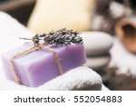lavender and towel    Shutterstock . vector #552054883