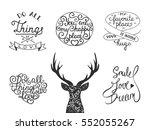 set of vector romantic ... | Shutterstock .eps vector #552055267
