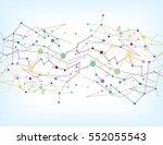 abstract geometric lattice  the ... | Shutterstock .eps vector #552055543