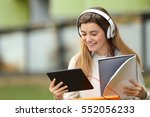 single student searching... | Shutterstock . vector #552056233