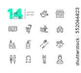 tattoo studio   modern vector... | Shutterstock .eps vector #552066823