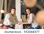 beautiful young couple in love... | Shutterstock . vector #552068377