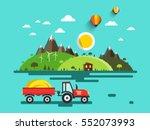 flat design vector landscape.... | Shutterstock .eps vector #552073993
