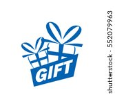 vector logo box with gifts | Shutterstock .eps vector #552079963