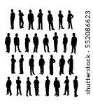 vector set of 30 standing boys... | Shutterstock .eps vector #552086623
