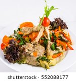 lamb chops with vegetables | Shutterstock . vector #552088177